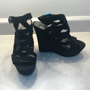 Black G by GUESS Heeled Sandals